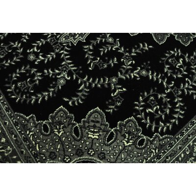 Zoel Black/Gray Area Rug Rug Size: Runner 27 x 91