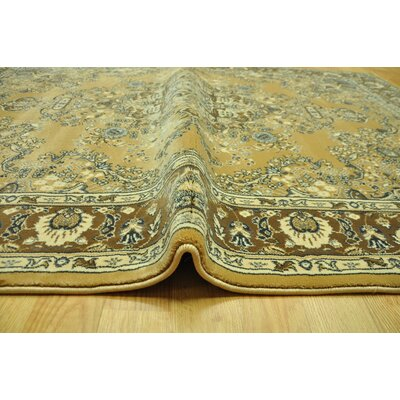 Lotie Yellow/Brown Area Rug Rug Size: Runner 27 x 91