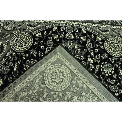 Zoel Stain Resistant Black/Gray Oriental Area Rug Rug Size: Runner 27 x 146
