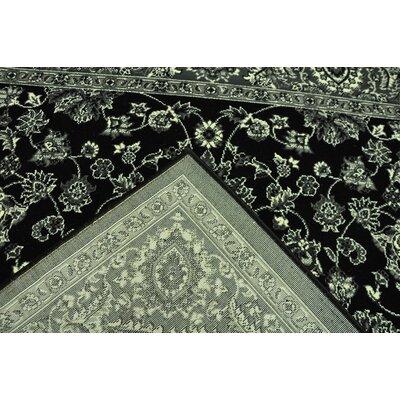 Zoel Black/Ivory Area Rug Rug Size: 711 x 910