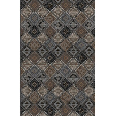 Fontaine Black/Gray Area Rug Rug Size: Rectangle 53 x 72