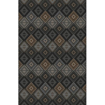 Fontvieille Gray/Brown/Black Area Rug Rug Size: Rectangle 53 x 72