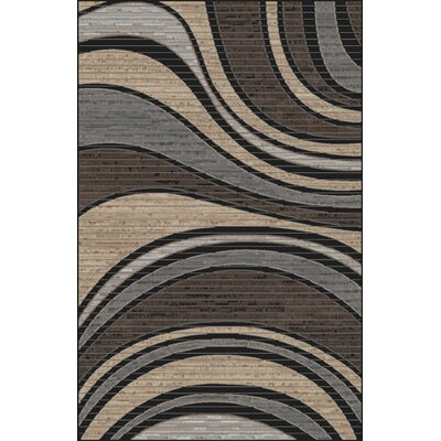 Mcgehee Black/Blue Area Rug Rug Size: Rectangle 53 x 72