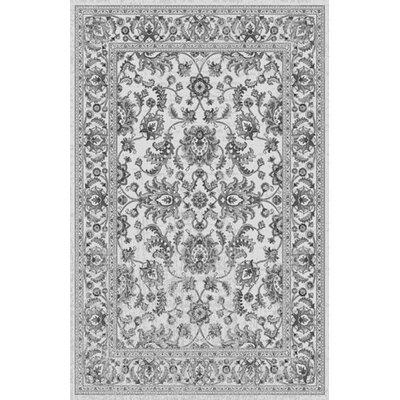 Saxon White Area Rug Rug Size: Rectangle 53 x 72