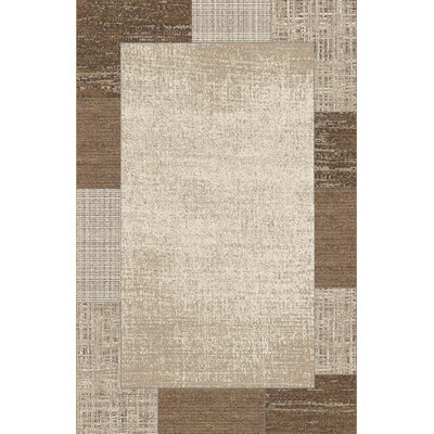 Ginsue Brown/Ivory Area Rug Rug Size: Rectangle 53 x 72