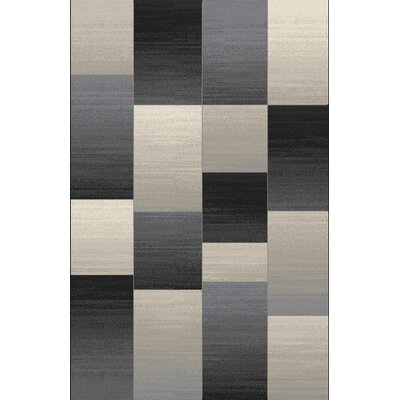 Doully Black Area Rug Rug Size: Rectangle 53 x 72