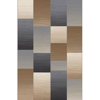 Lukula Blue/Brown Area Rug Rug Size: Rectangle 53 x 72