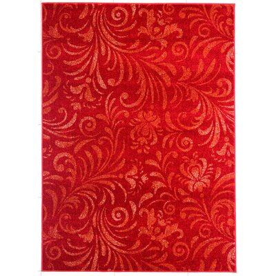 Atalya Rectangle Red Area Rug
