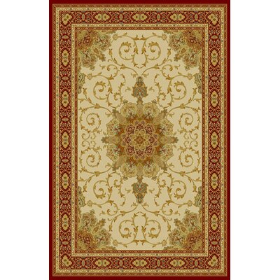 Mencia Ivory Area Rug Rug Size: 711 x 910
