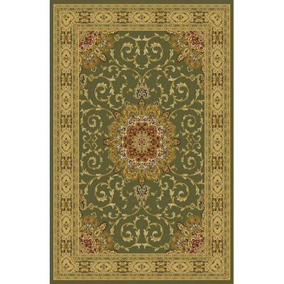 Umberger Green Area Rug Rug Size: 53 x 72