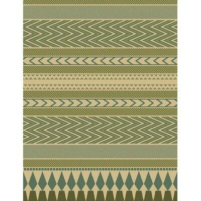 Alanna Green Area Rug Rug Size: 53 x 72