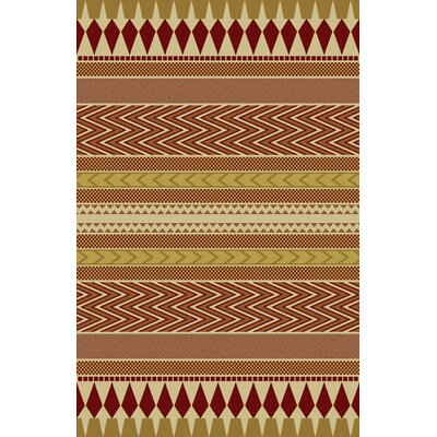Journee Burgundy Area Rug Rug Size: 53 x 72