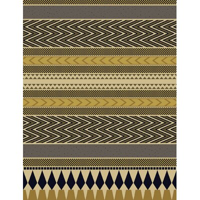 Nia Gray/Brown Area Rug Rug Size: 53 x 72
