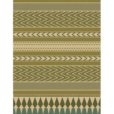 Aniya Green Area Rug Rug Size: 53 x 72