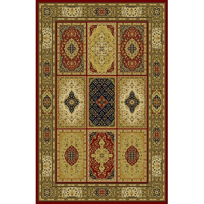 Germencik Red Area Rug Rug Size: 711 x 910