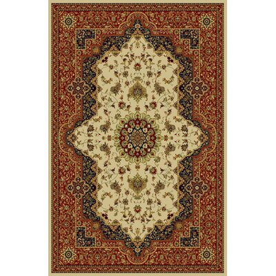 Mencia Ivory/Brown Area Rug Rug Size: 53 x 72