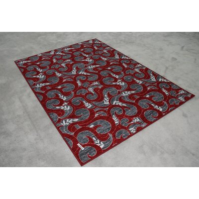 Atalya Reversible Red Area Rug Rug Size: Runner 27 x 91