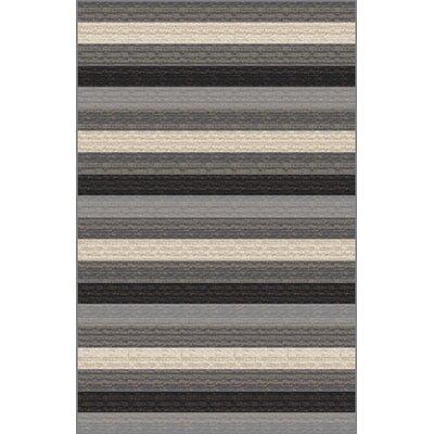 Kwesi Gray Area Rug Rug Size: 711 x 910