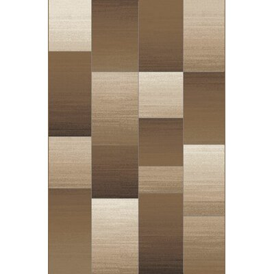 Pantego Brown Area Rug Rug Size: 53 x 72