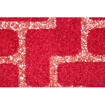 Mcfee Modern Red Area Rug Rug Size: 4 x 6