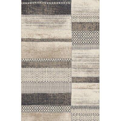 Ancram Gray Area Rug Rug Size: 711 x 910