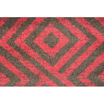 Rosamond Red/Brown Area Rug Rug Size: 4 x 6