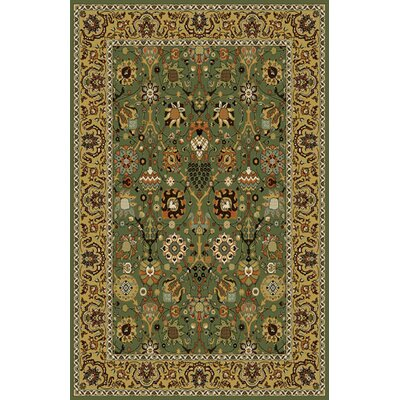Gillam Stain Resistant Green Area Rug Rug Size: 711 x 910