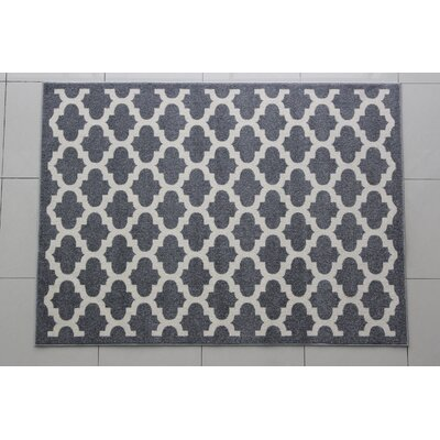 Mariemont Gray/Ivory Area Rug Rug Size: 53 x 72