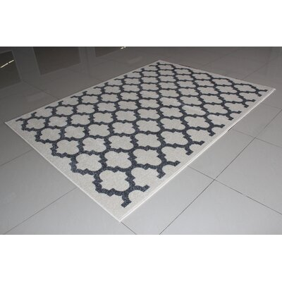 Marietta Ivory/Gray Area Rug Rug Size: 3 x 5