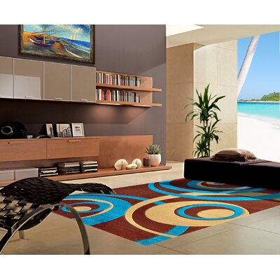 Melfa Turquoise/Brown Area Rug Rug Size: Runner 27 x 72
