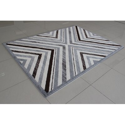 Alise Gray Area Rug Rug Size: 53 x 72