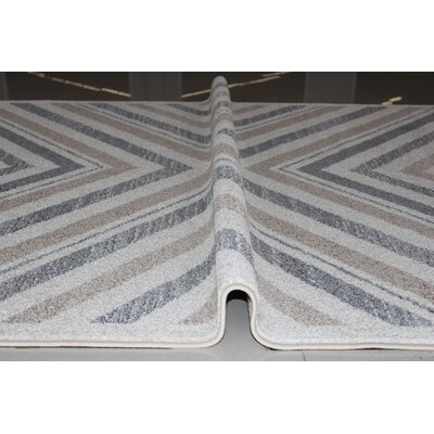 Kieth Gray/White Area Rug Rug Size: 53 x 72