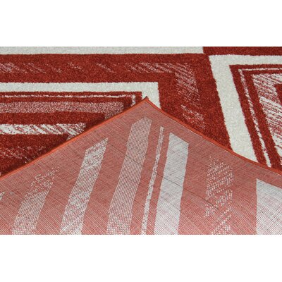 Rosenthal Modern Red Area Rug Rug Size: 53 x 72