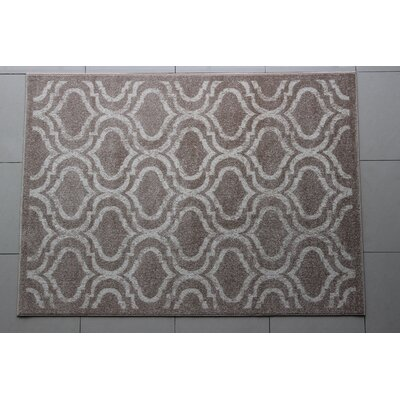 Rosenzweig Gray Area Rug Rug Size: 4 x 6