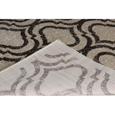 Rorie Contemporary Brown/White Area Rug Rug Size: 4 x 6