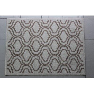 Rosser Gray/White Area Rug Rug Size: 4 x 6