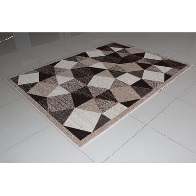 Rorie Brown/White Area Rug Rug Size: 4 x 6