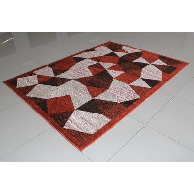 Rosenthal Brown Area Rug Rug Size: 53 x 72