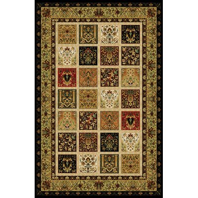 Gillett Black/Ivory Area Rug Rug Size: Runner 27 x 91