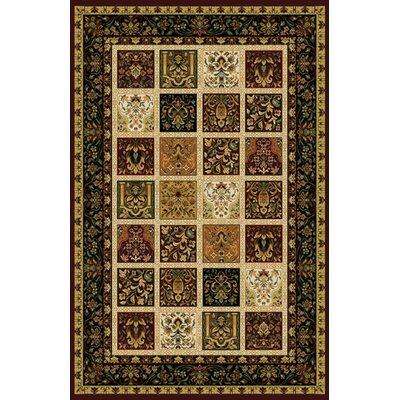 Germantown Modern Burgundy Area Rug Rug Size: 10 x 13