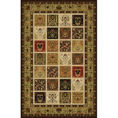 Gillmore Modern Dark Brown Abstract Area Rug Rug Size: 711 x 910