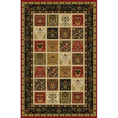 Germencik Stain Resistant Red Area Rug Rug Size: 10 x 13