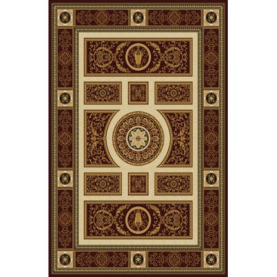 Germantown Burgundy Area Rug Rug Size: Runner 27 x 91