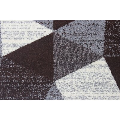 Mcginn Modern Gray/Brown Area Rug Rug Size: 53 x 72