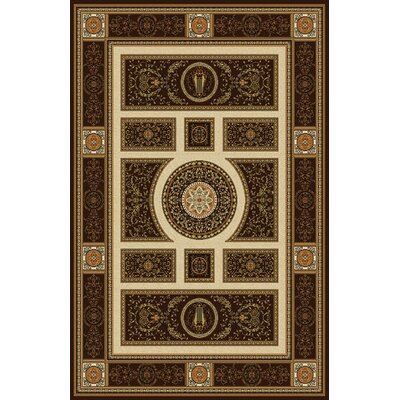 Gillmore Dark Brown Area Rug Rug Size: 53 x 72