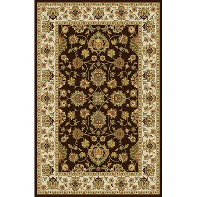 Rosalin Brown Area Rug Rug Size: 711 x 910