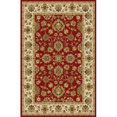 Gio Red Area Rug Rug Size: 53 x 72