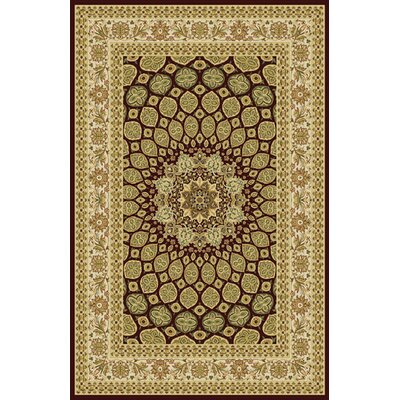Cushen Stain Resistant Burgundy Area Rug Rug Size: 53 x 72