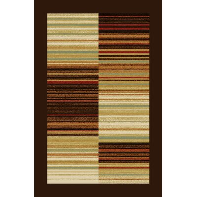 Dzu Brown/Beige Area Rug Rug Size: Runner 27 x 91
