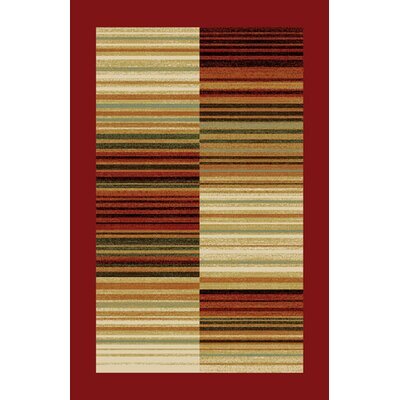 Atalya Red Area Rug Rug Size: 53 x 72